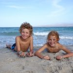 Noé et Elisa, vidéo 7: Dans le grand bain avec les tortues!