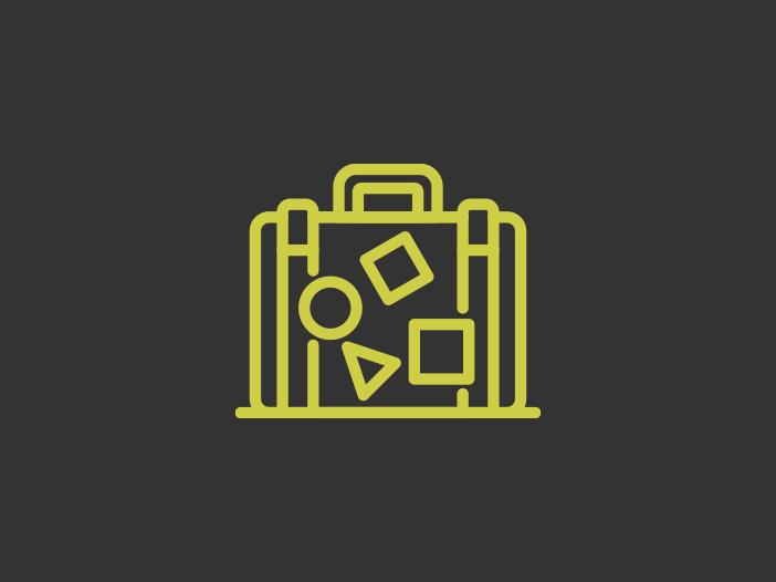 Una maleta de viaje