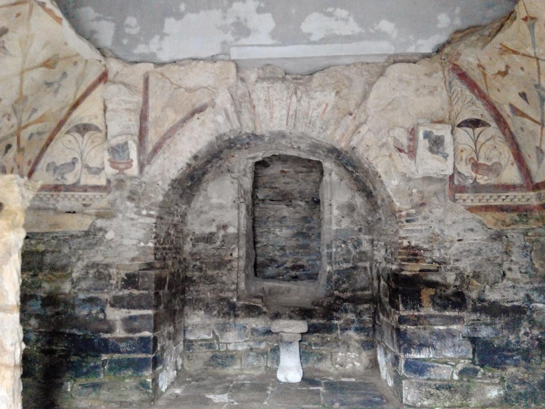 Santa Eulalia de Bóveda con niños