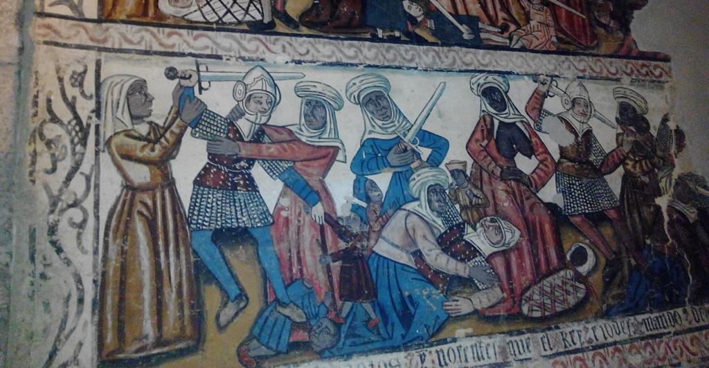 La ciudad medieval de Mondoñedo, con niños