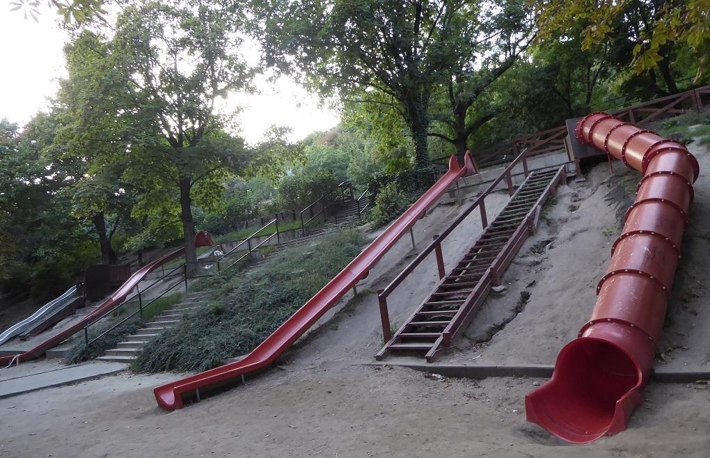 Los toboganes del Monte Gellért (Jubileumi Park, Budapest)