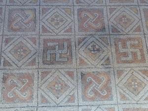 Mosaicos en Villa Romana la Olmeda
