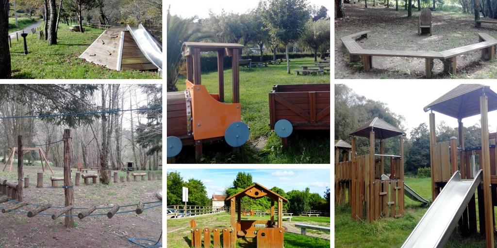 Los seis parques infantiles del Mandeo