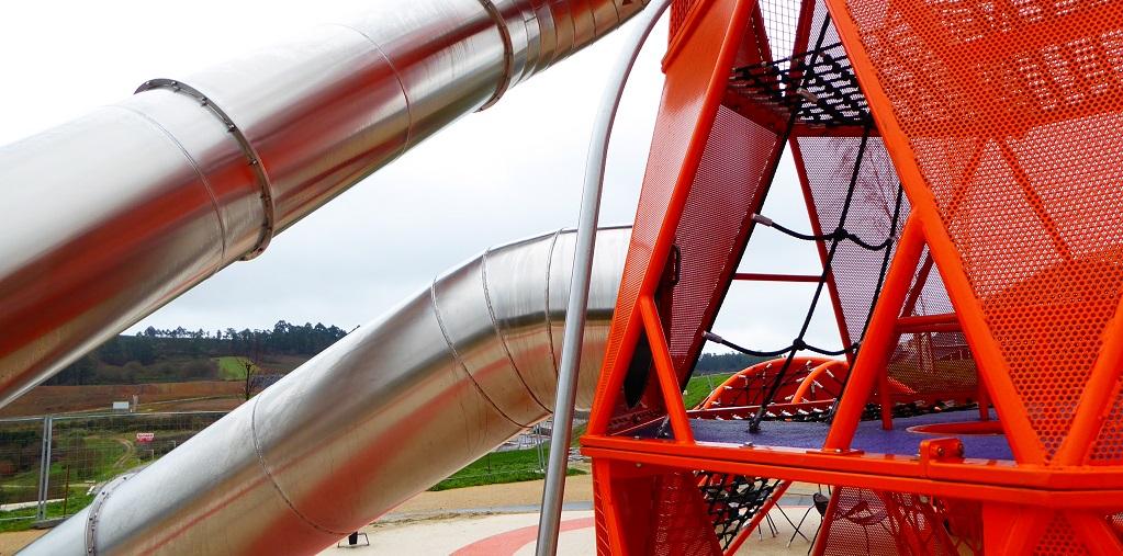 Parques infantiles en el Gaiás, Cidade da Cultura