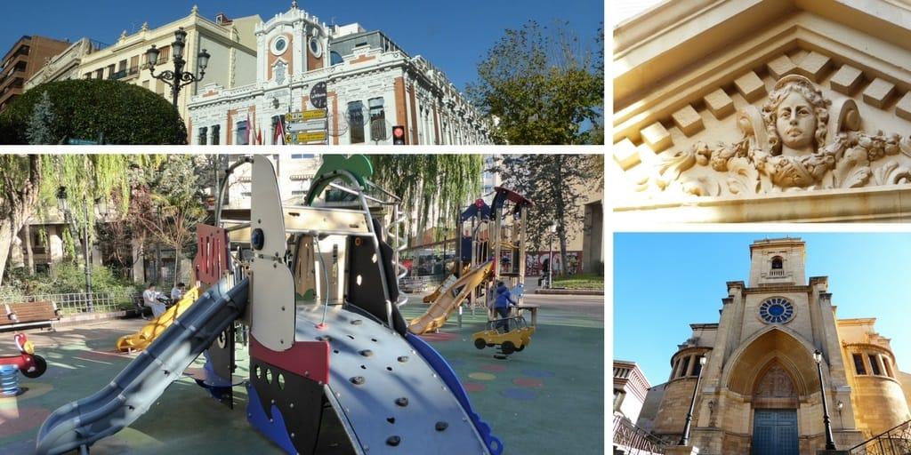 Albacete con niños: el parque infantil de Plaza de la Catedral