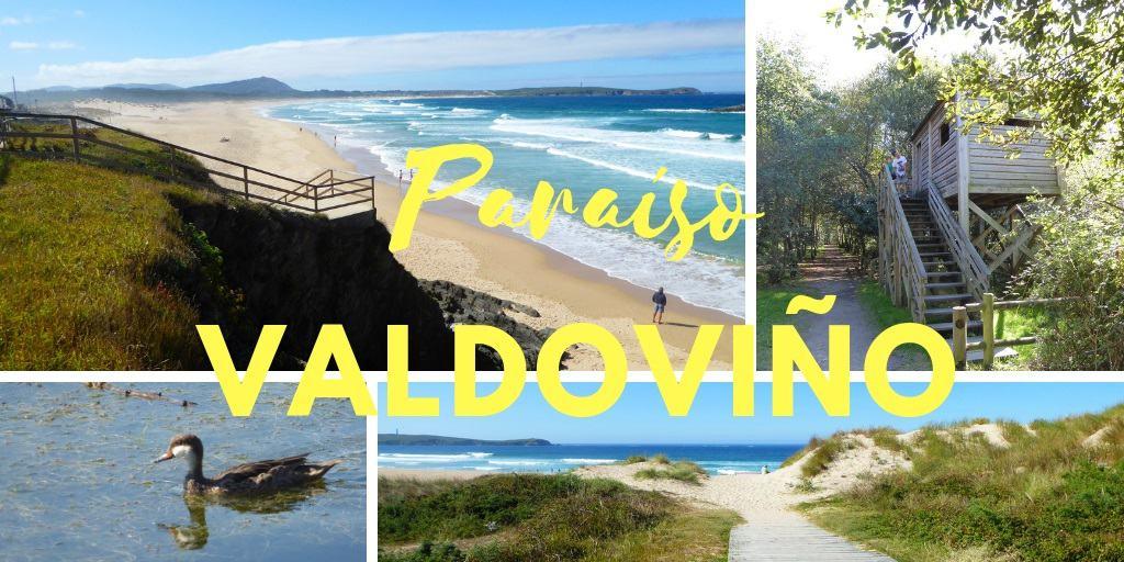 Ruta por la playa y laguna de Valdoviño con niños