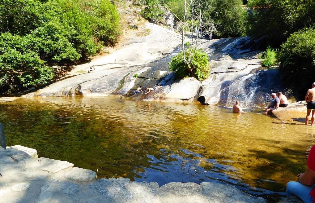 río Barosa con niños