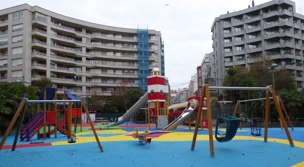 Parques infantiles en Vigo: plaza de la Independencia