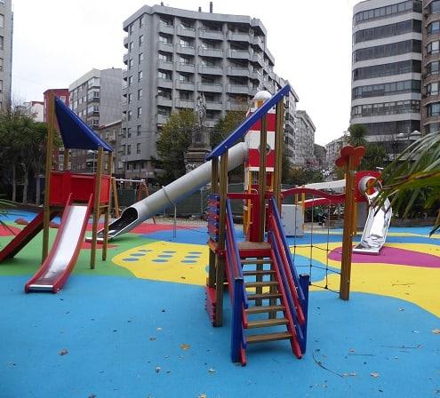 Parques infantiles en Vigo Plaza de la Independencia