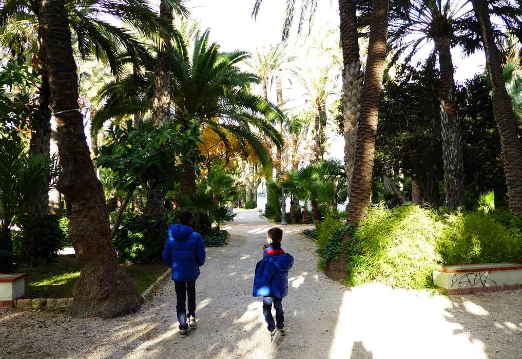 Elche con niños: el parque del Palmeral