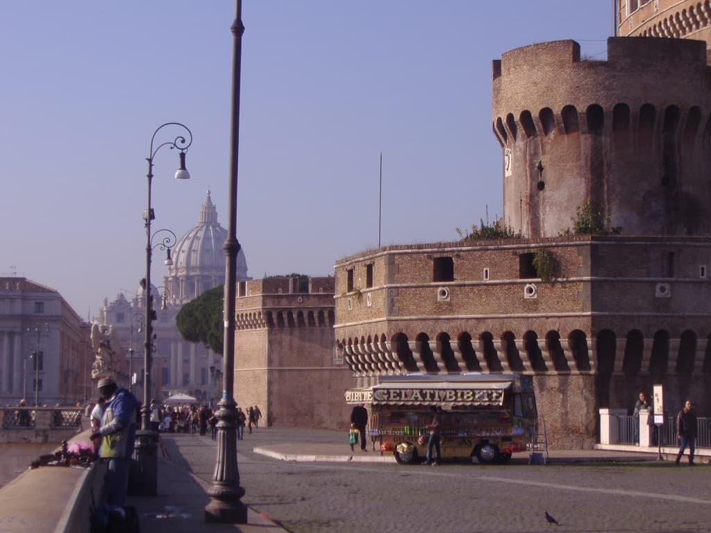 En coche por Roma