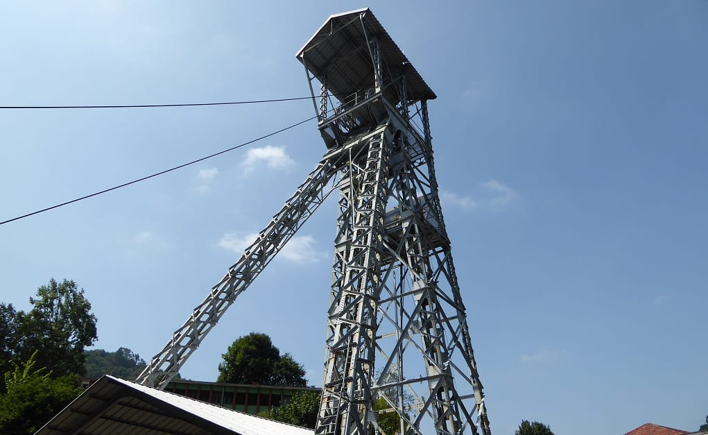 Ferrocarril minero de langreo castillete