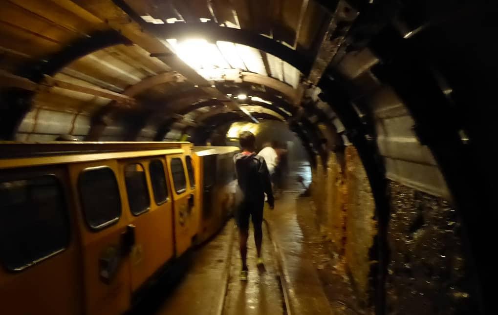 Ferrocarril minero de Langreo pozo San Luis