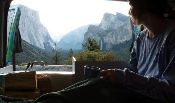 Yosemite Tunnel View from the Campervan