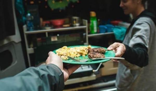 Meals campervan cooking kitchen