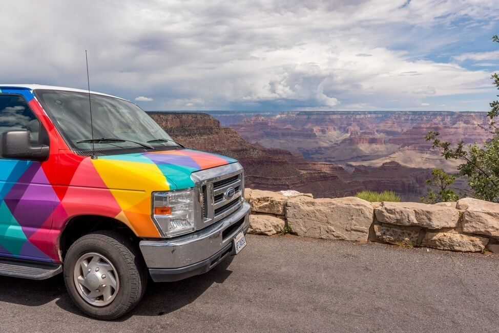Grand Canyon National Park in Arizona by campervan