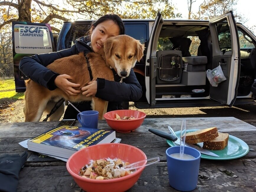 Breakfast in Shenandoah National Park Camping