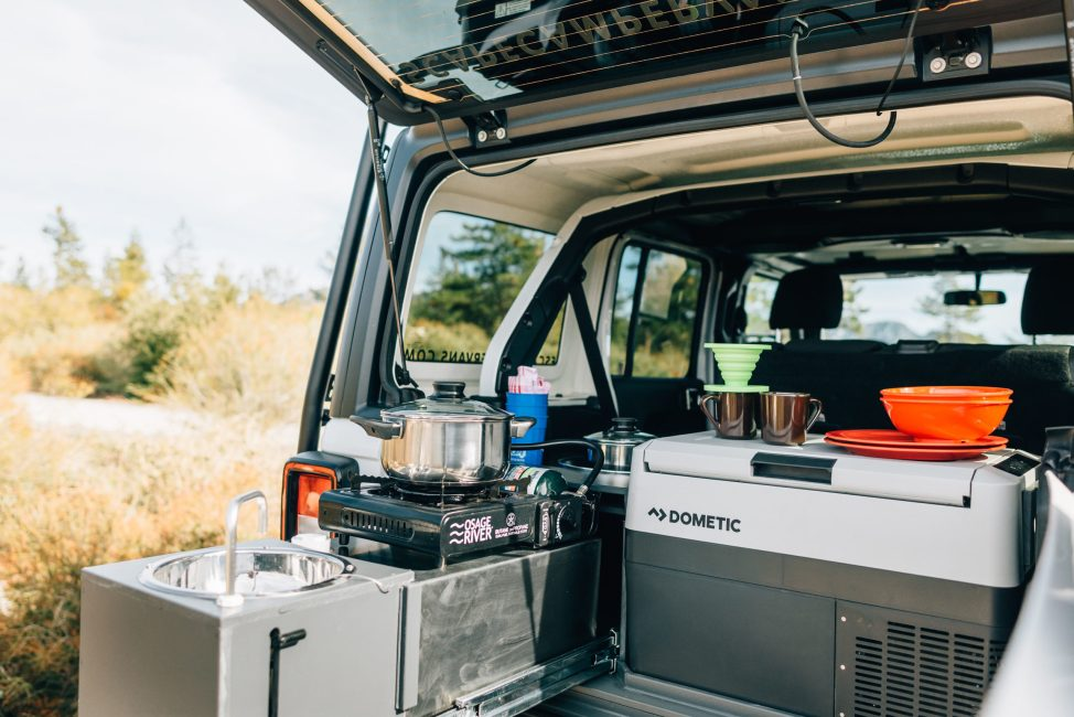 jeep camper interior kitchen