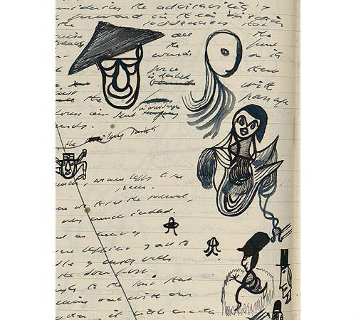 """Doodles from the """"Watt"""" notebooks by Samuel Beckett"""
