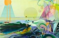 1.LEE Jin Han, 2010, Peeps, 152x122 cm, Oil, acrylic, gouache, glitter and masking tape on canvas