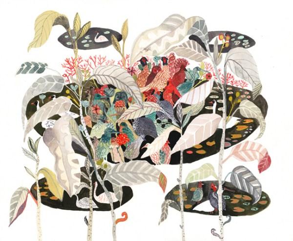 Morin_Bird Sanctuary_watercolor and gouache on paper_18x15