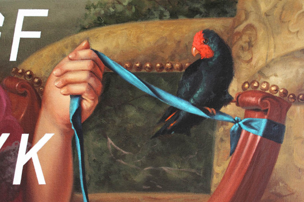 Young Girl With Dog and Bird, Farm Animal, detail 4
