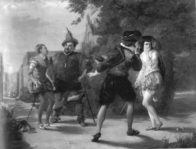 Twelfth Night, William_Powell_Frith,_The_Duel_Scene (1843)