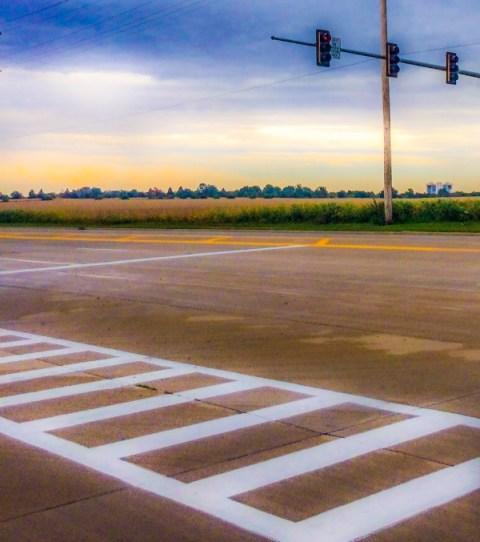 Dana Colcleasure, EIL Stuck Series, road, traffic lights