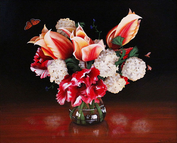 Bouquet-in-red-and-white