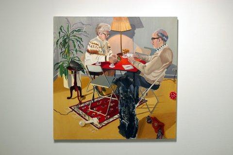 Rosalind Al-Aswad, painting of the parents