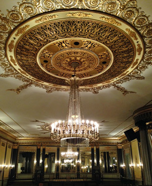 The Palmer House's famous Empire Room, just upstairs from the lobby with the famed Wedgwood ceiling.