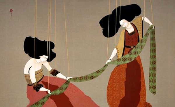 Hayv Kahraman, Folding Large Sheet