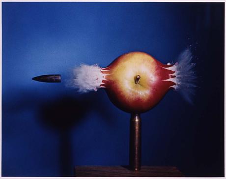 Bullet Though Apple by Harold E. Edgerton