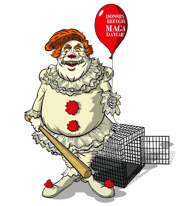 Cartoon by Phil Maish: Donal Trump Pennywise