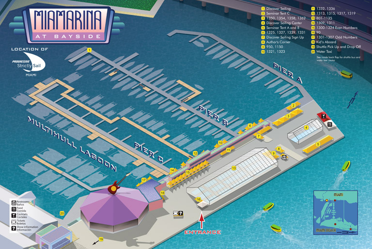 Boat Show Illustrated Maps From Escape Key Graphics