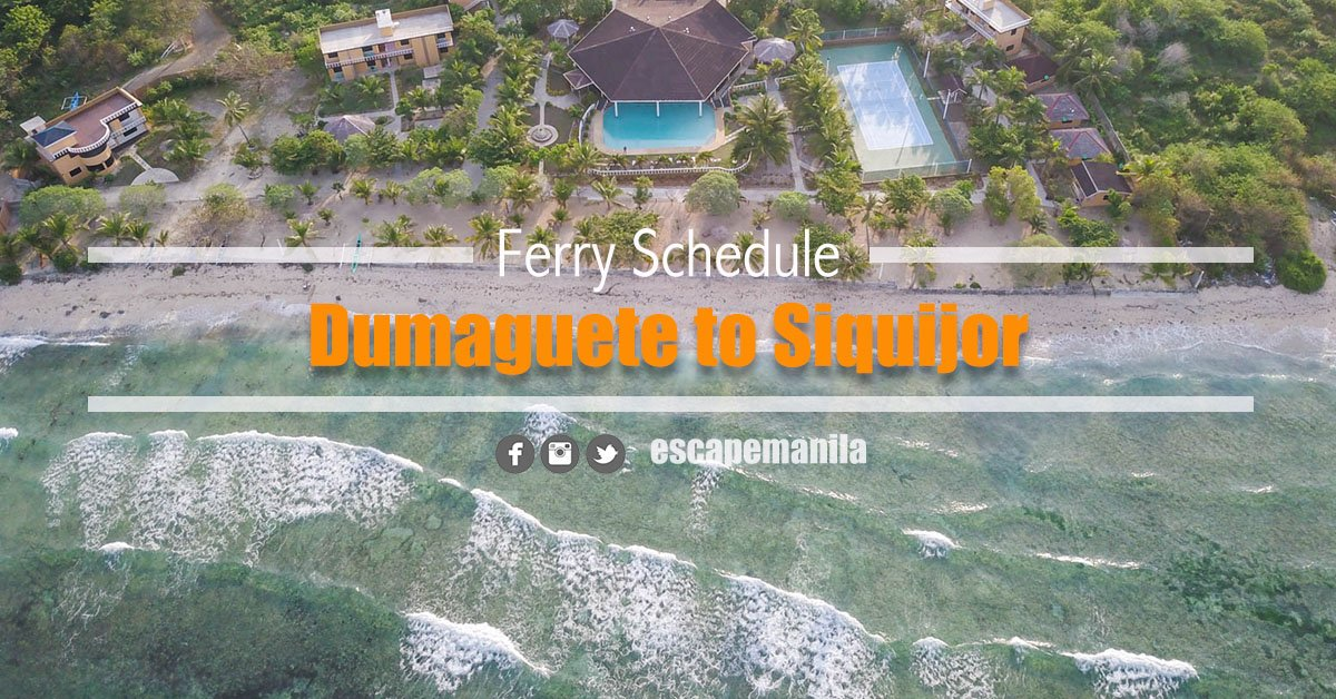 Dumaguete to Siquijor Ferry Schedule and Fare Rates (2020)