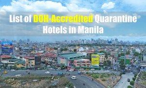 List of DOH-Accredited Quarantine Hotels in Manila