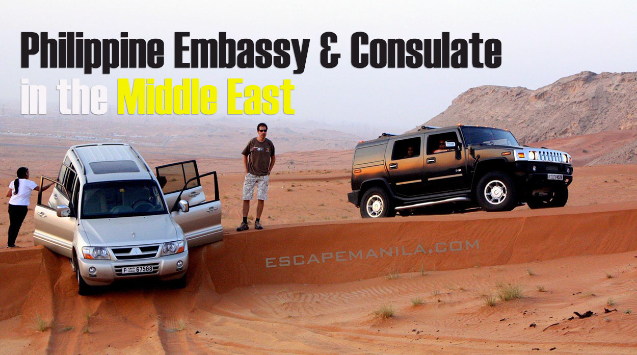 List of Philippine Embassies & Consulates in the Middle East
