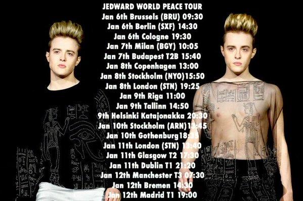 Jedward world peace tour
