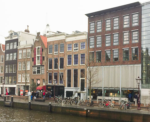 Anne Frank's House where 8 people hid in the secret annex for 2 years
