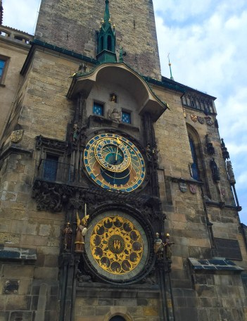 The World famous Astronomical Clock in Prague. Check out my beginners guide to visiting Prague. Found out how to make the most of your trip to this beautiful city!