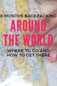 Planning to go on a long stint of travelling? Check out my 8 month round the world trip.