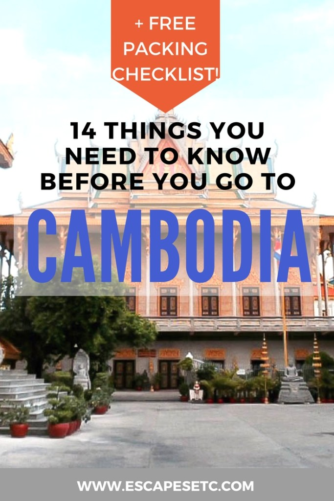 Planning a trip to Cambodia? You're going to have an amazing time! Make sure you know these 14 tips before you go and be sure to get your hands on my free packing checklist to help with your travel prep! #cambodia #packinglist