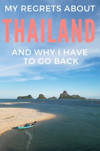 Ever been somewhere and let your mind talk you out of really going for it? That was me in Thailand. It's a country full of adventures only I wouldn't let myself see it at the time. Find out what happened and why I have to go back.
