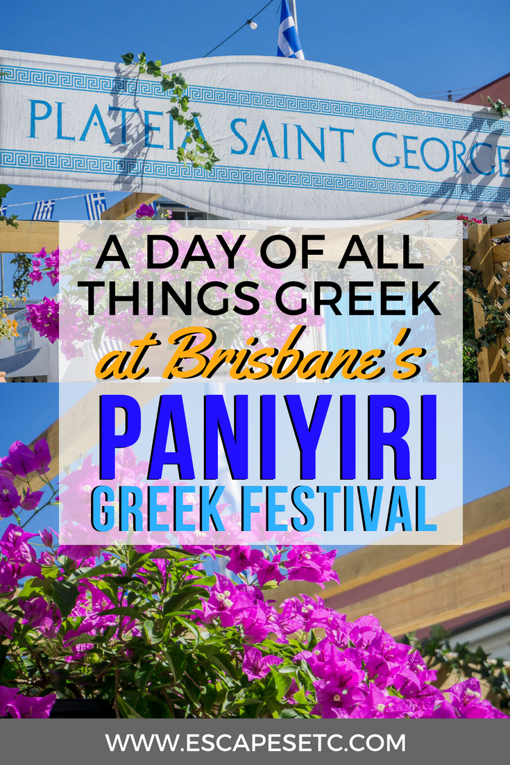 One of the best things about Australia is how multicultural it is. Every year Brisbane hosts the amazing Paniyiri Greek Festival, full of food, drink, dancing and all things Greek. Find out more about it here and why you have to go! #australia #queensland #brisbane #paniyirigreekfestival