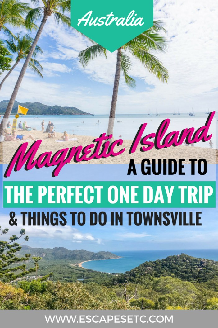 If you're travelling Australia's East Coast then a trip to Magnetic Island is a must. Here's my guide to spending one day on Magnetic Island to help you plan your adventures! #australia #queensland #magneticisland #townsville