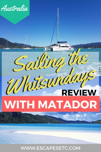Sailing the Whitsundays is something you have to do in Australia. I took a one night tour with Matador and had an amazing time. Find out more about it in my review here. #whitsundays #australia #queensland #airliebeach #whitehaven