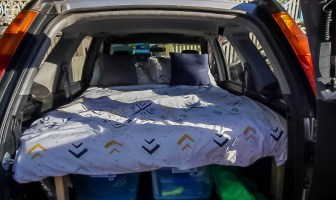 In this guide I show you how we made our Honda CR-V sleeping platform, how you can make one for your car and all the reasons why you should!