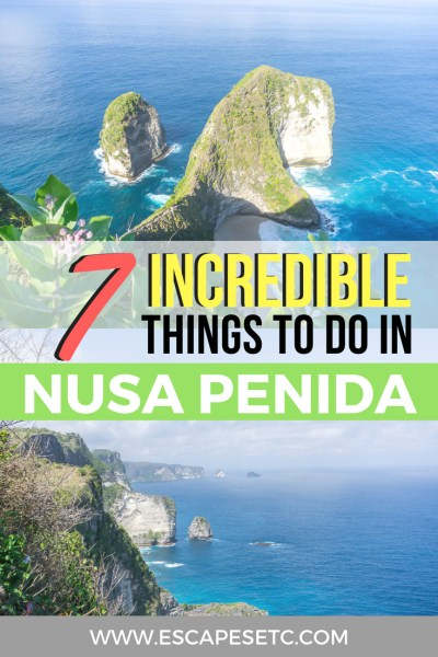 Planning a trip to Bali? Make sure you visit Nusa Penida! Here are my top things to do in Nusa Penida and my guide to visiting. #nusapenida #thingstodoinnusapenida #bali #3weeksbaliitinerary