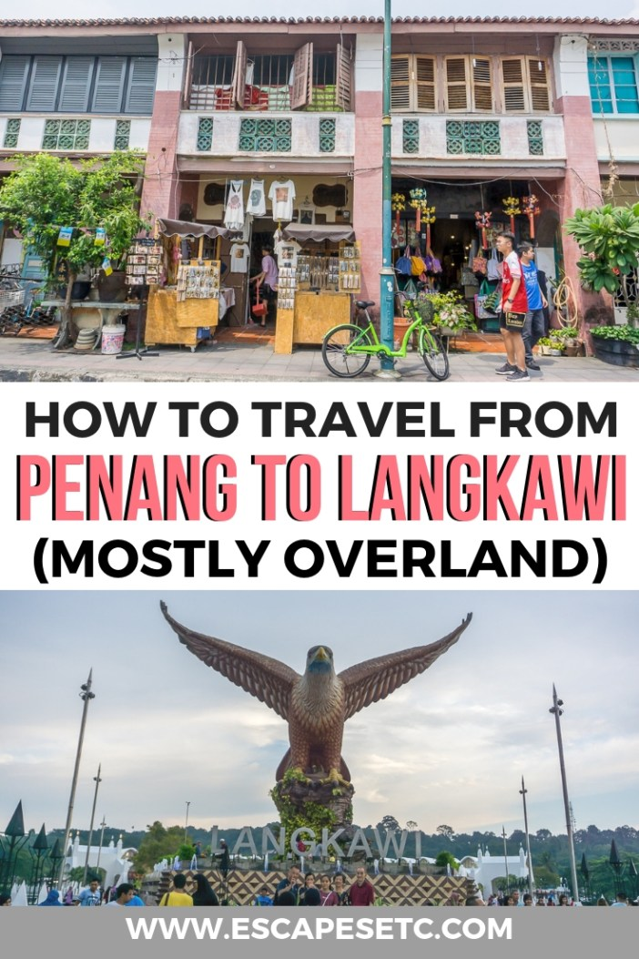 Looking to avoid a 3 hour ferry between Penang and Langkawi? Here's how to travel from Penang to Langkawi, mostly overland, in my step my step guide. #penang #langkawi #travelmalaysia